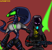 The Queen and The Quarian by Finjix