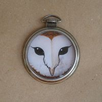 Owl watch case pendant by missmonster