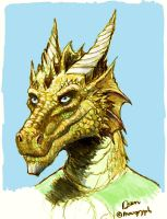 Dragon Self Portrait by maugryph