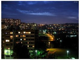 Belgrade at night I by Terza