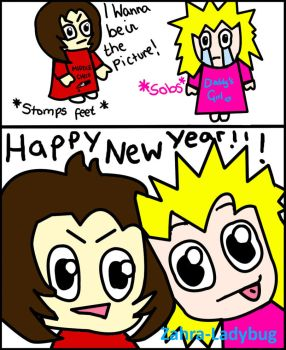 Happy New Year -Frankie + Lily by zahra-ladybug