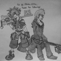 KH Request: Sora and Roxas by danventuretime