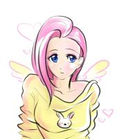 Human Flutter Shy by fluffy-fuzzy-ears