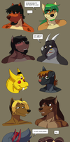 Demon's Bind_Headshots by crocdragon89