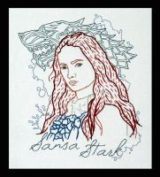 Sansa Stark Embroidery by padfootb3