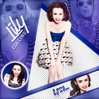 PNG Pack (104) Lily Collins by IremAkbas