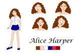 Reference sheet: Alice Harper by OMIT-Story