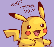 Pikachu wants a hug ~ =3 by Gladssinay123