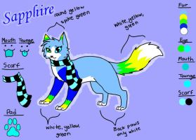 Sapphire's Reference Sheet by xDaydreaminFairy