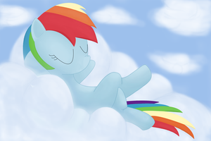 Rainbow Dash, chill by Aklimovich
