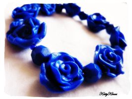 Blue Rose Bracelet by Cateaclysmic