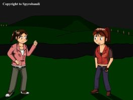 Left4Dead Zoey meets Claire by Spyrobandi