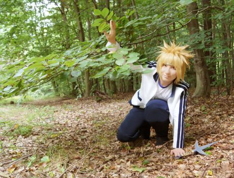 Minato in the forest (Cosplay) by Stray-Cat-Yoru