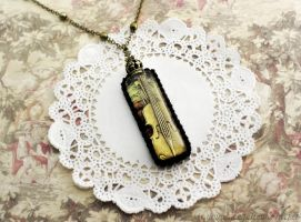 Encased Violin Necklace by Angelic-World