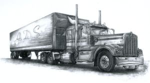 Truck Pencil Sketch by angel1592
