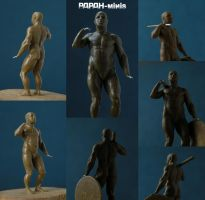Barbarian anatomy, 33mm by Papah-minis
