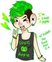 ++ Sour Apple+ by silly-bananna