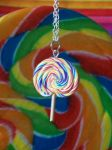 Rainbow Lollipop Necklace by lessthan3chrissy