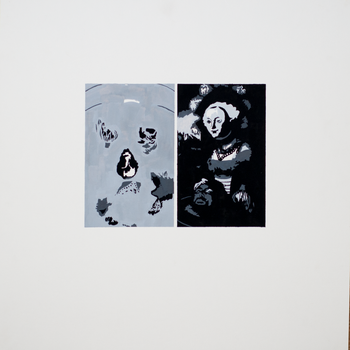 2014 Untitled Shape Reproduction Diptych by ChesyreFrog