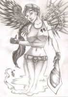 Batlle angel by LordMiste