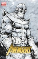 Thanos sketch cover by ChrisOzFulton