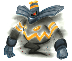 Arrogant and Proud- Hal the Dusknoir by The-Spikey-Mouth
