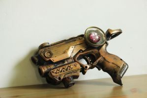 Steampunk gun by Hot-cocoaX3
