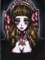 OC Gothic Lolita Ayame by ArtistiqueMuoi