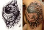 living yinyang tattoo by mekhz