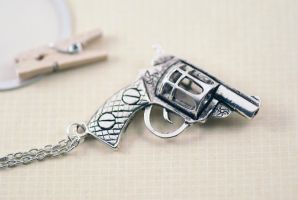 Gun Necklace by MonsterBrandCrafts