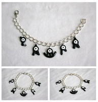 Pokemon Unown charm bracelet: LAURA by LittleLoveInc