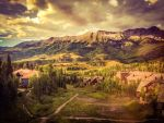 Colorado Mountain Village by Izzie-Hill