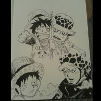 Luffy And Law LnL by eneas94