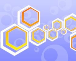 Vintage Hexagons by cow41087