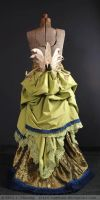 Steampunk Peacock Bustle and Skirt back by arcticphoenixstudios