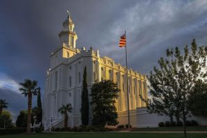 St George LDS Temple by Ericseye
