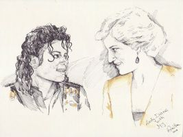 MJ and Lady Di by SpiritOfTheShadow