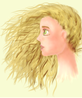 Human hair and anatomy practice. by miyumicat