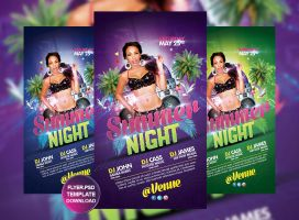 Summer night flyer template by grandelelo