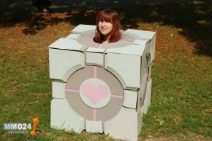 Companion Cube Cosplay 2 by Alex-chan666