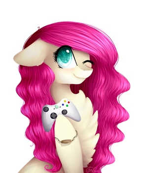 Curly Gamer - Gift by MagicalBrownie