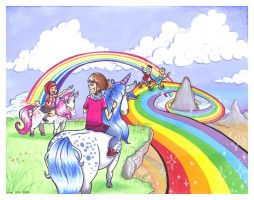..oh my..rainbows and unicorns by Hare-Bo