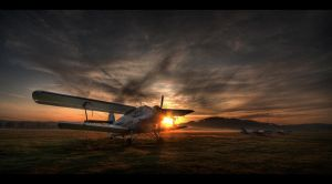 Morning airfield by PawelJG