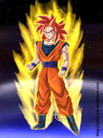 Saiyan God (my version) by rocio-mb