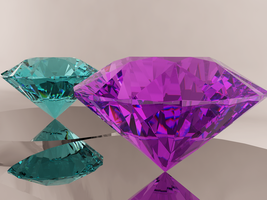Chaos Emeralds Light Blue - Violet Color by ShirakawaShuu