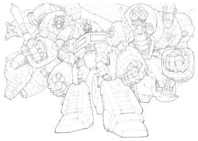 Transformers Autobots by mikebowden