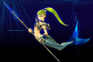 Royal Spear Carrier Mermaid Guard by Arev-San