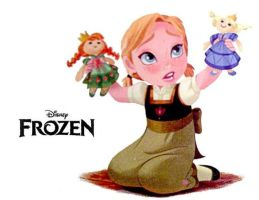 Frozan - Little Anna by RosaRose2