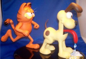 Garfield and Odie Painted 1 by Spanglerart