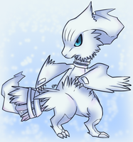 Pokemon-Reshiram chibi by FancyPancakes